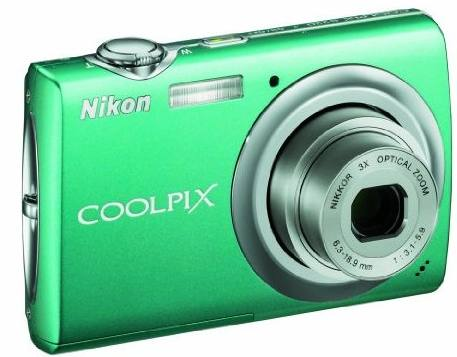 Nikon_coolpix_s220_green_front