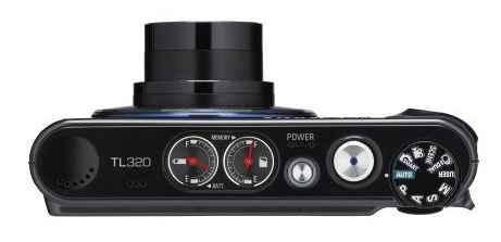 Samsung TL320 black top view