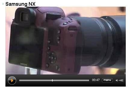 screenshot of Samsung NX video
