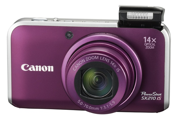 Canon_SX210_IS_superzoom_purple_frontview
