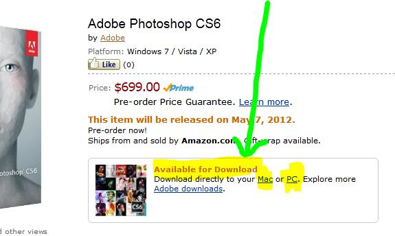 Amazon-cs6-download-options