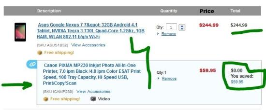 Nexus7-canon-mp230-combo-offer-at-adorama